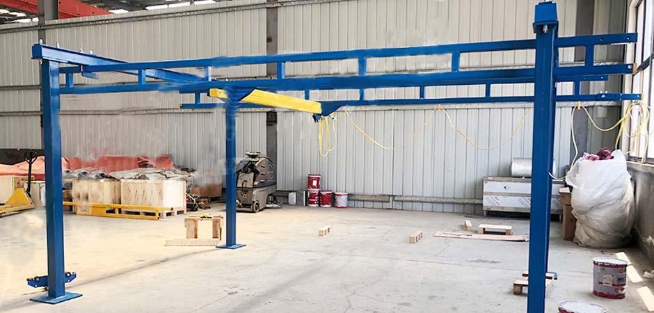 Vacuum equipment-Modular self supporting crane
